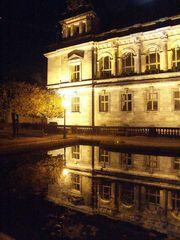 Auf der Brühlschen Terasse Dresden nachts