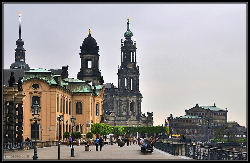Auf der Brühlschen Terasse in Dresden