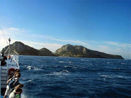 Auf der Fähre nach Capri