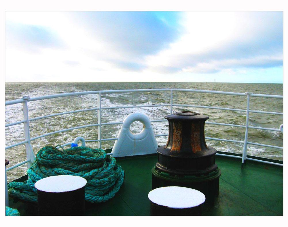 auf der Fähre von Helgoland nach Cuxhaven