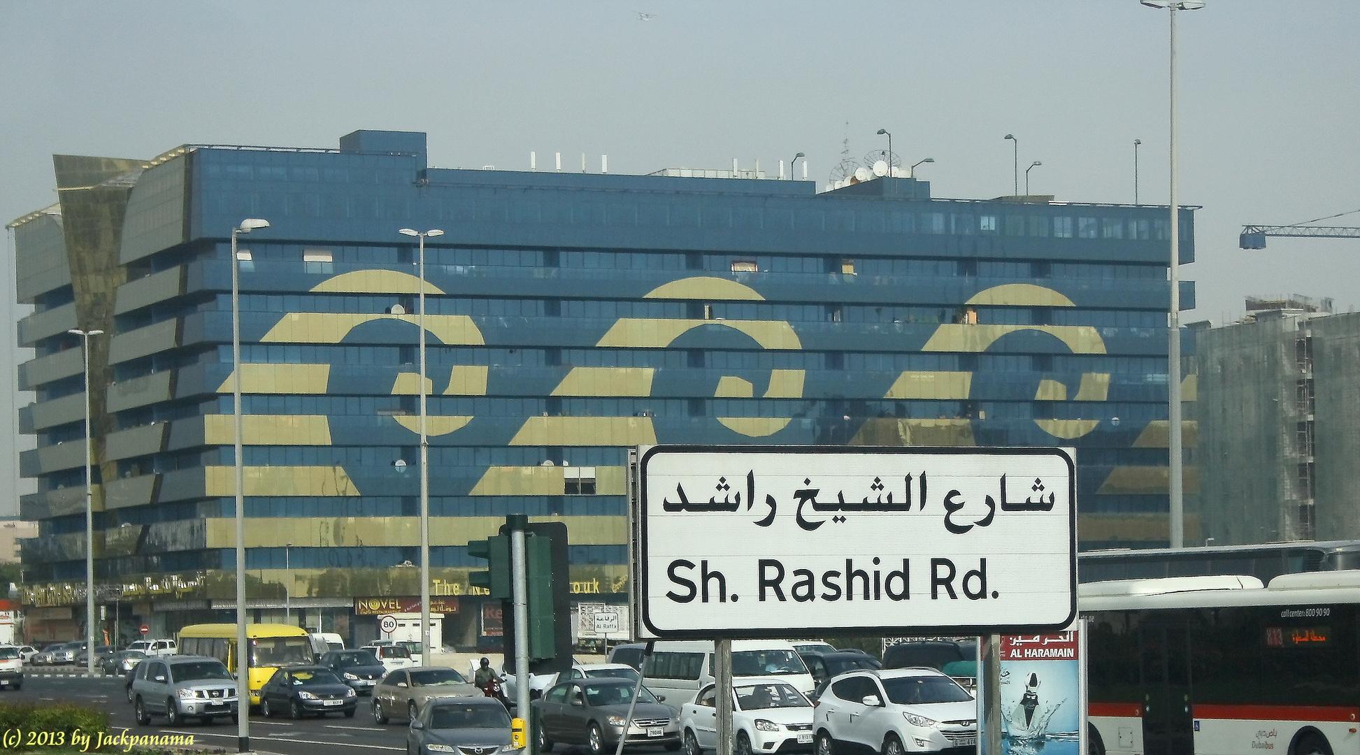 Auf der Fahrt nach Dubai - City