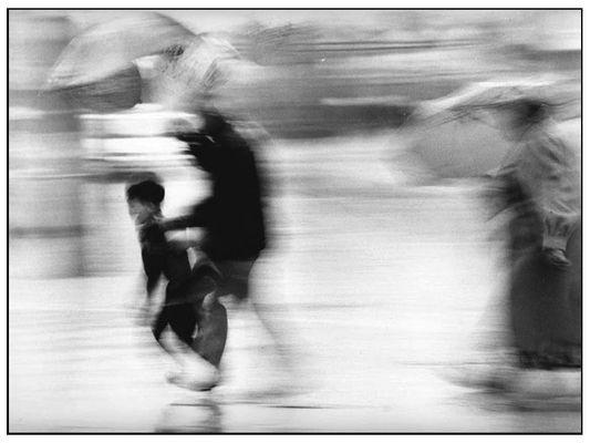 Auf der Flucht vor dem Regen