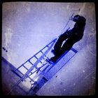 Auf der Leiter