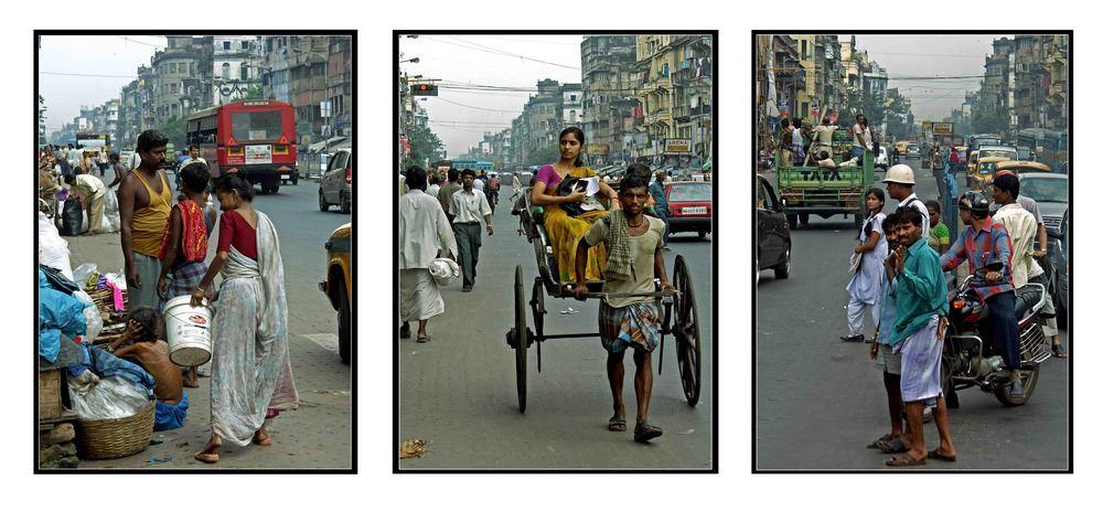 ...Auf der Mahatma Ghandi Road...