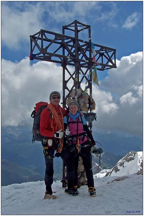 """Auf der """"Marmolada"""" 3342 m ..."""