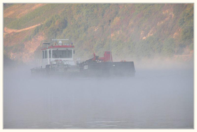...auf der Saar ...früh morgens... im Nebel