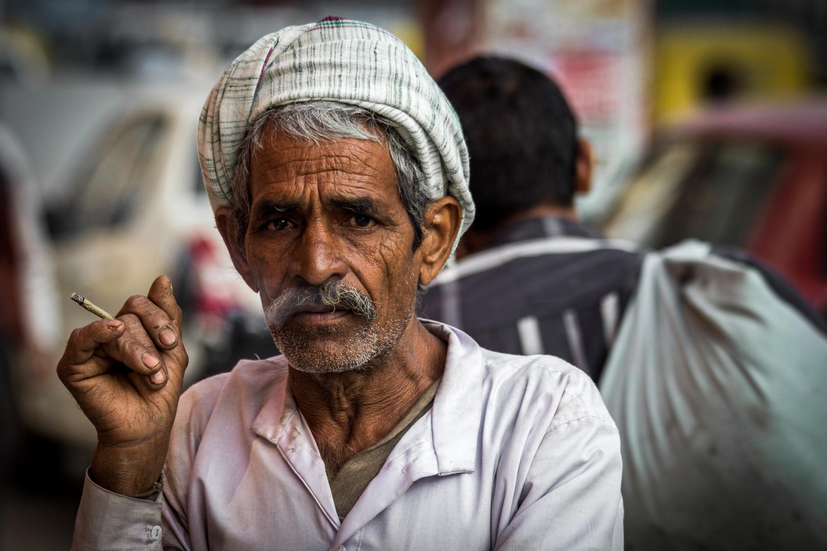 Auf der Straße in Delhi