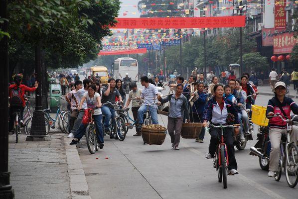 Auf der Strasse in Guilin