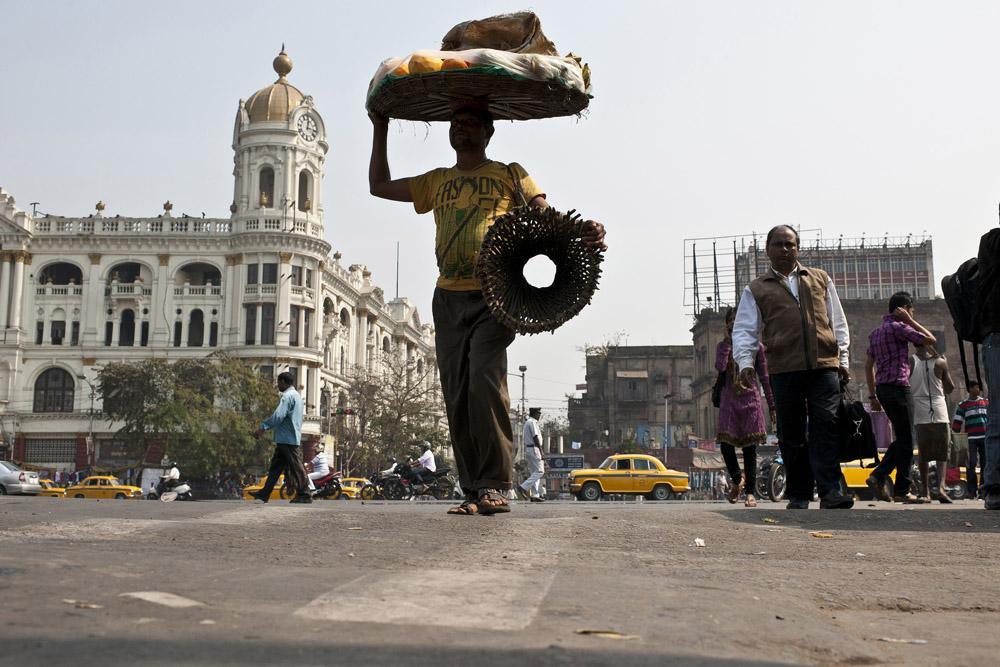 Auf der Straße in Kalkutta