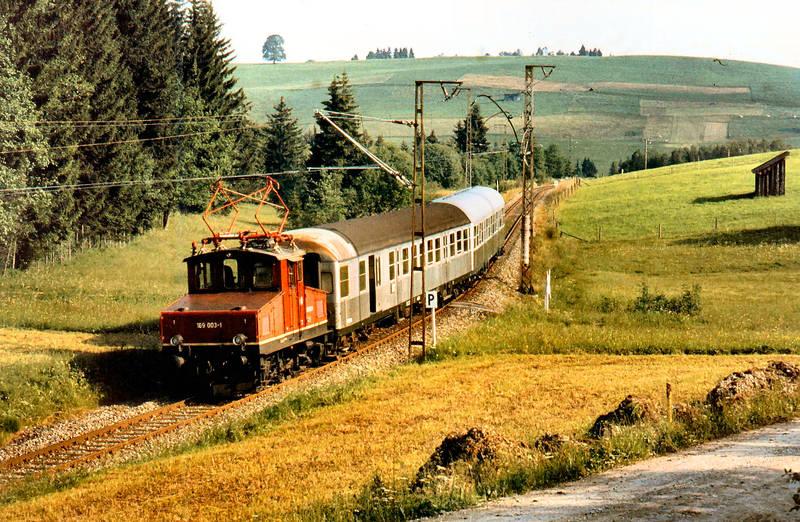 Auf der Strecke Murnau Oberammergau