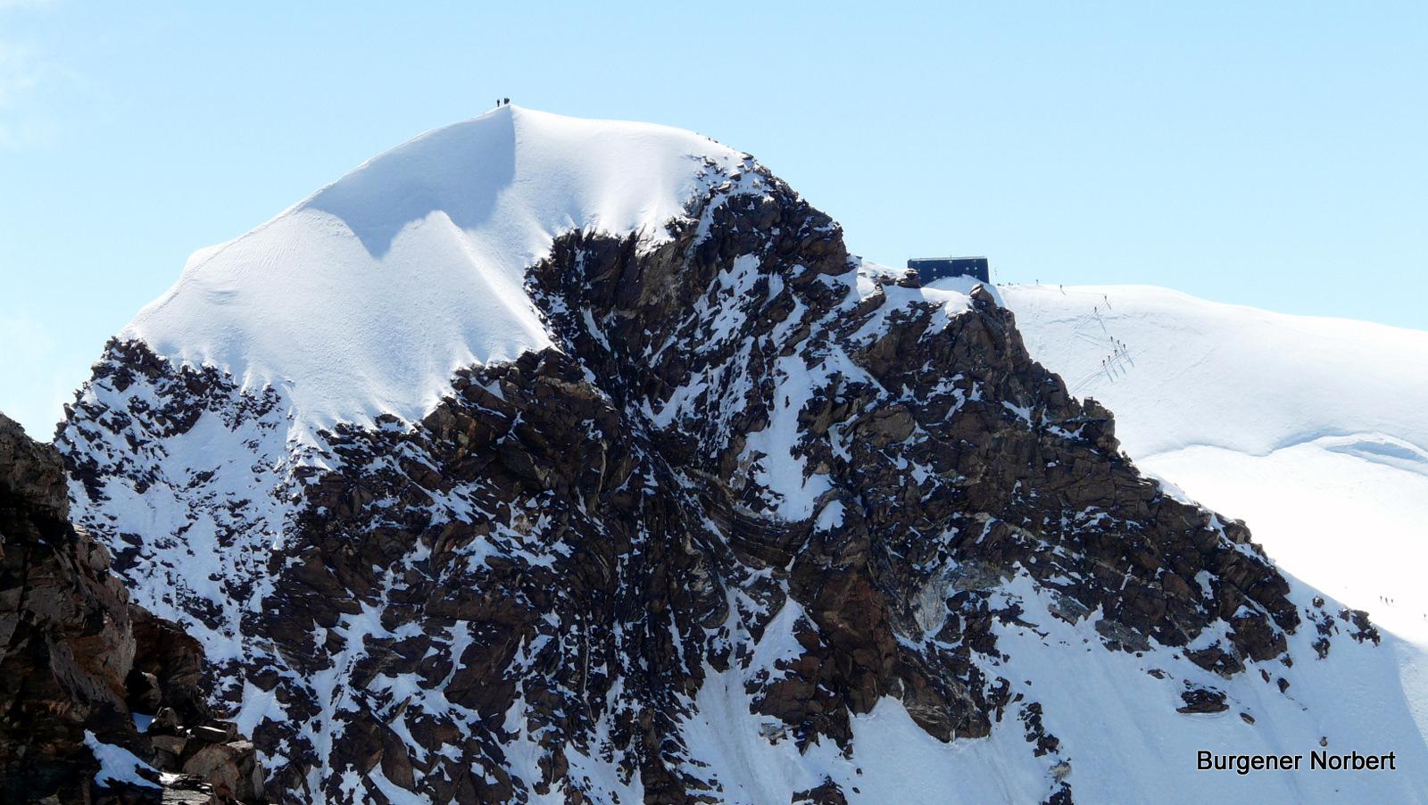 Auf der Zumsteinspitze.