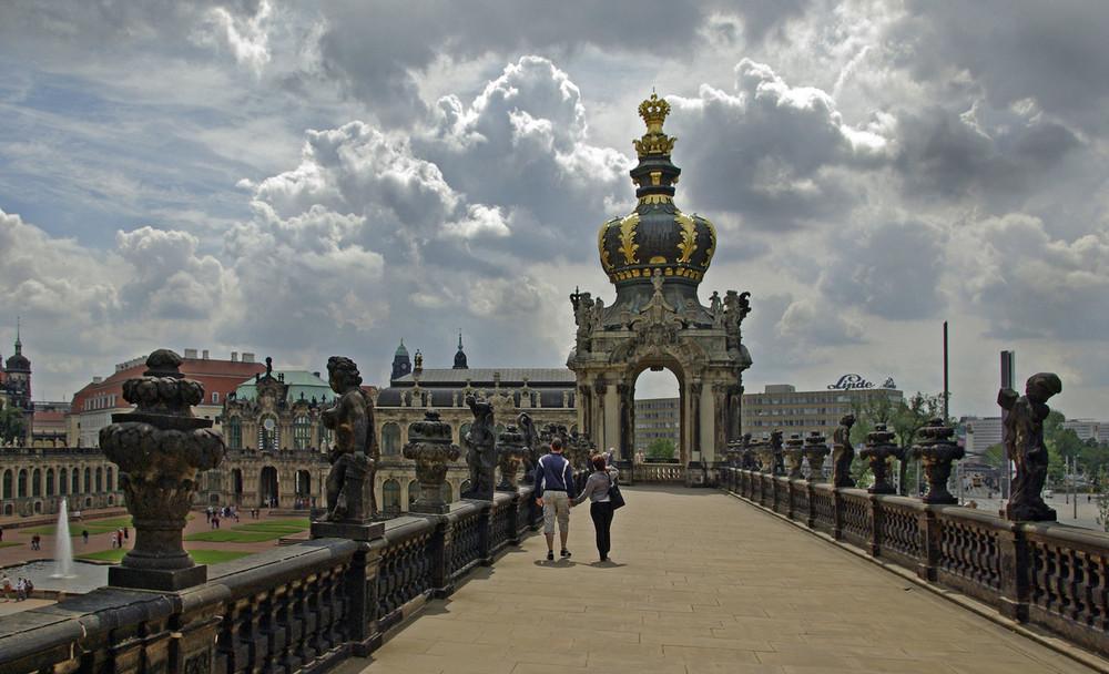 auf der Zwingerterasse in Dresden