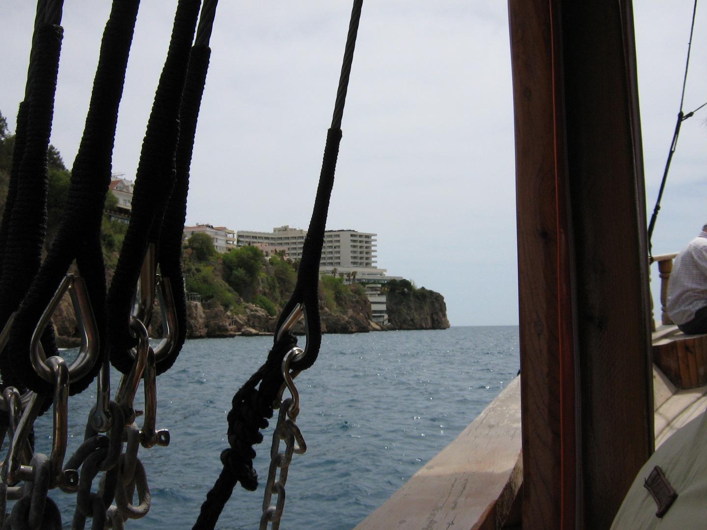 auf einem Boot vor Antalya