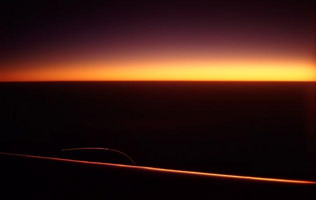 Auf einem Flug mit einer Boeing 747-400