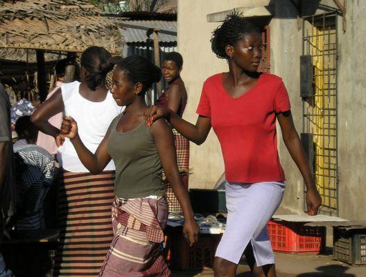 auf einem Markt in Mozambique