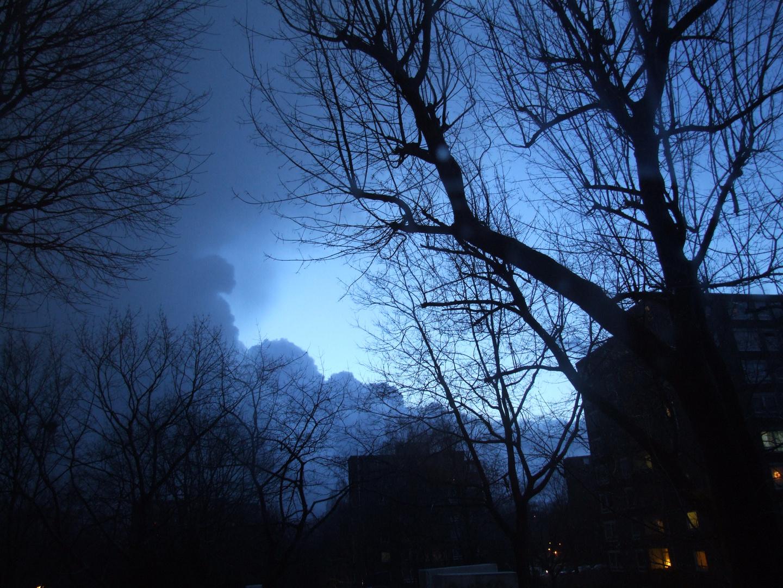 ... auf einmal brach der Himmel auf ...