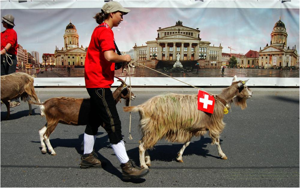 ... auf jeden Fall mit der Schweizer Fahne gehen...