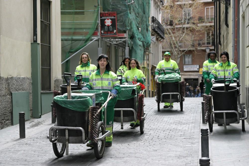 Auf Räumfahrt in Madrid