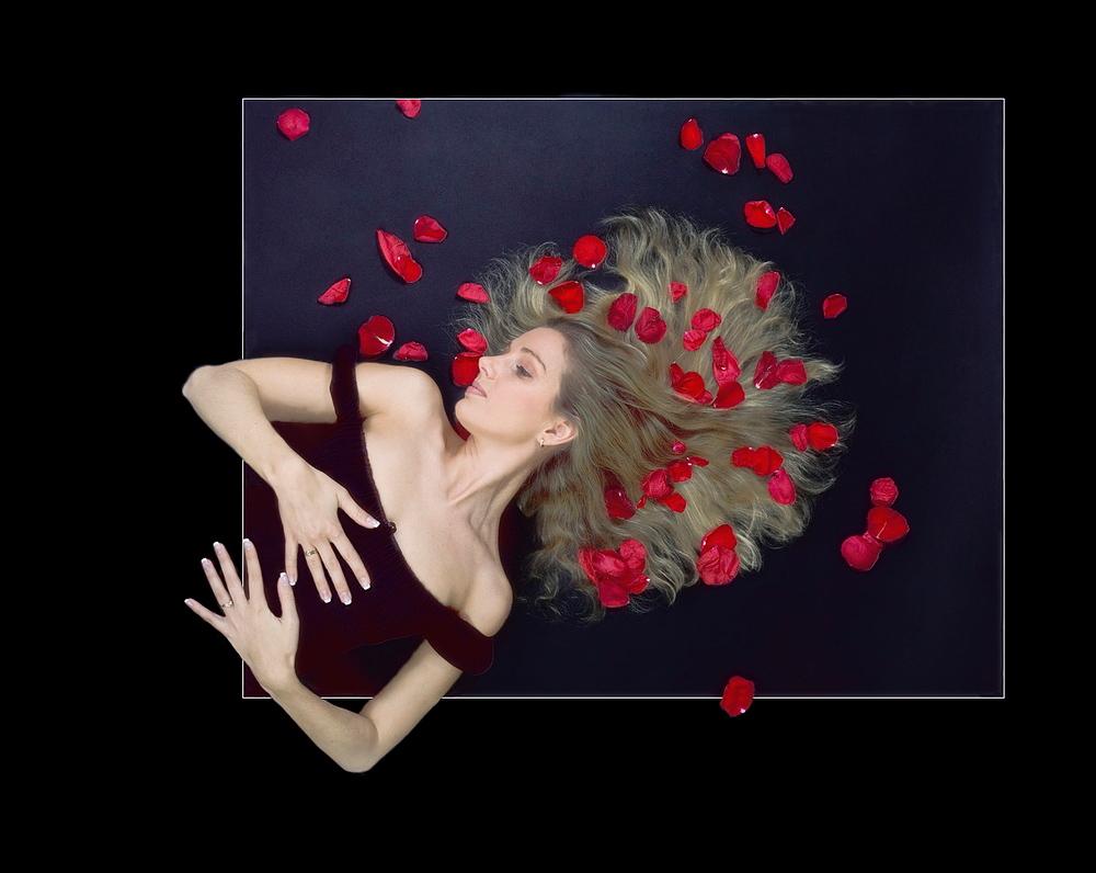 auf Rosen gebettet
