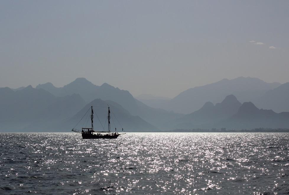 ...auf See