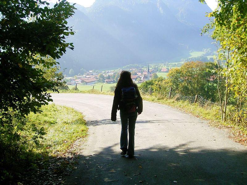 auf Wanderung