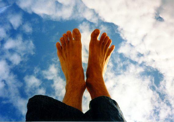 Auf Wolken laufen