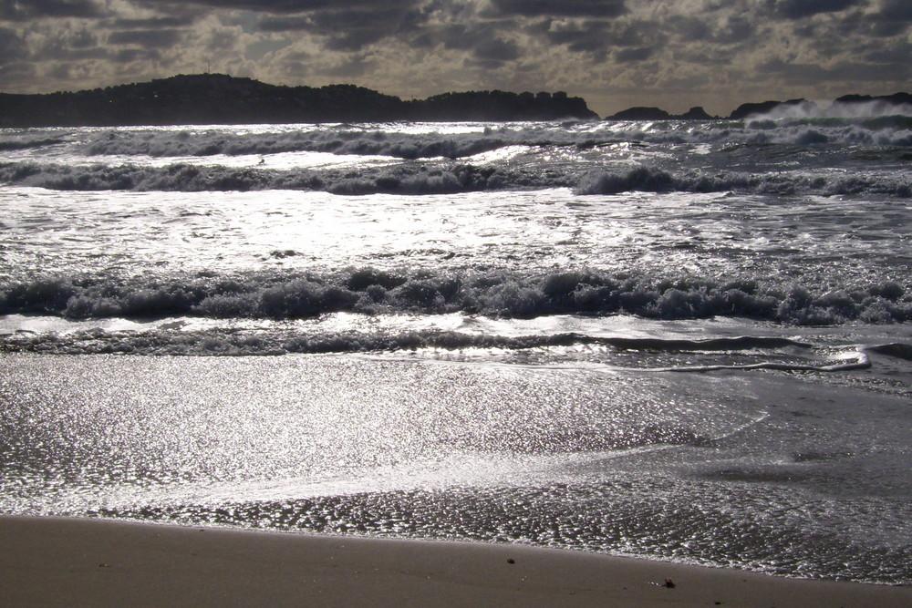 Aufbrausendes Meer