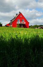 Auffallendes Haus auf dem Land