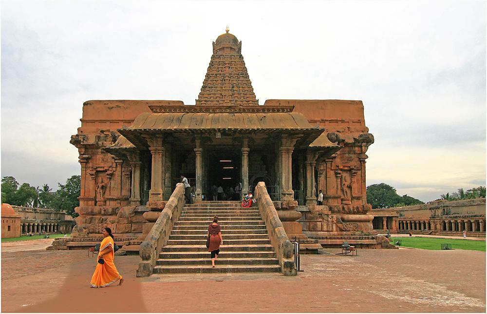 Aufgang zur Cella des Brihadisvara-Tempels