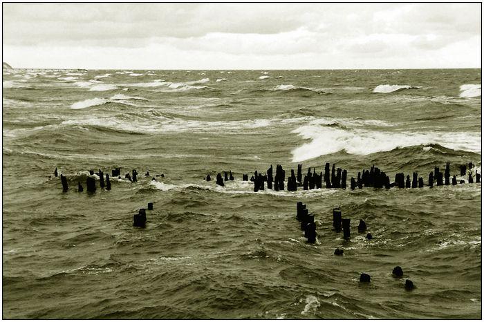 Aufgewülte Ostsee