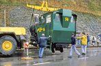 Aufgleisung einer Neubaudampflokomotive 1996