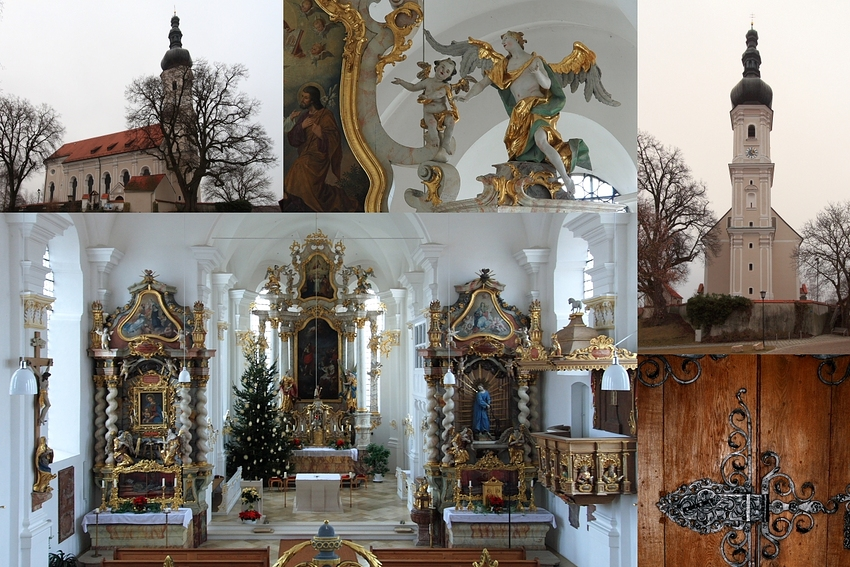 Aufkirchen - Katholische Pfarrkirche St. Johannes der Täufer