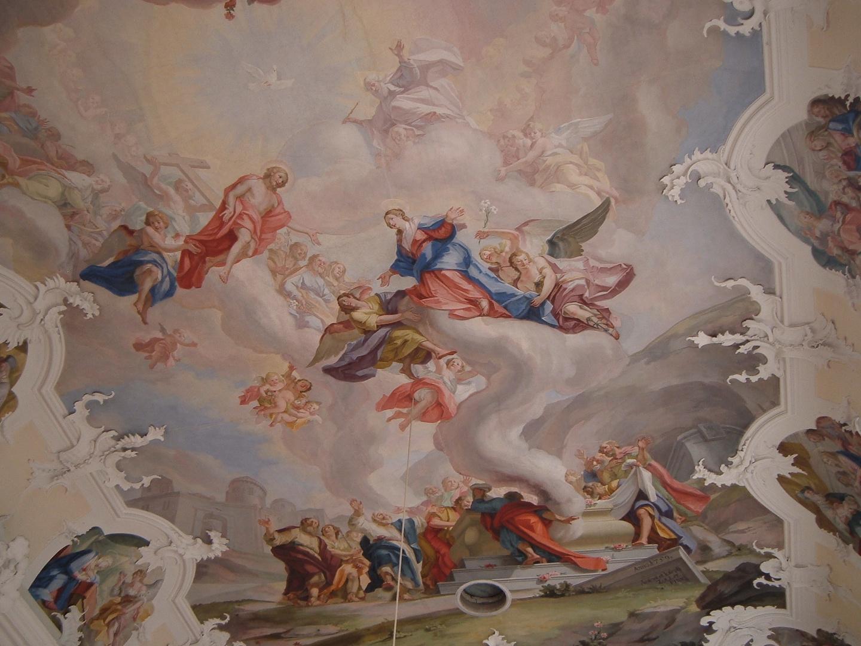 Aufnahme der Maria in den Himmel, Pfarrkirche Engelswies