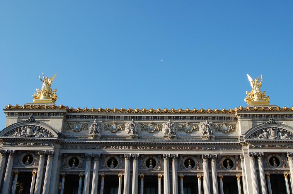 Aufnahme in Paris Frankreich von der Academie le Musique