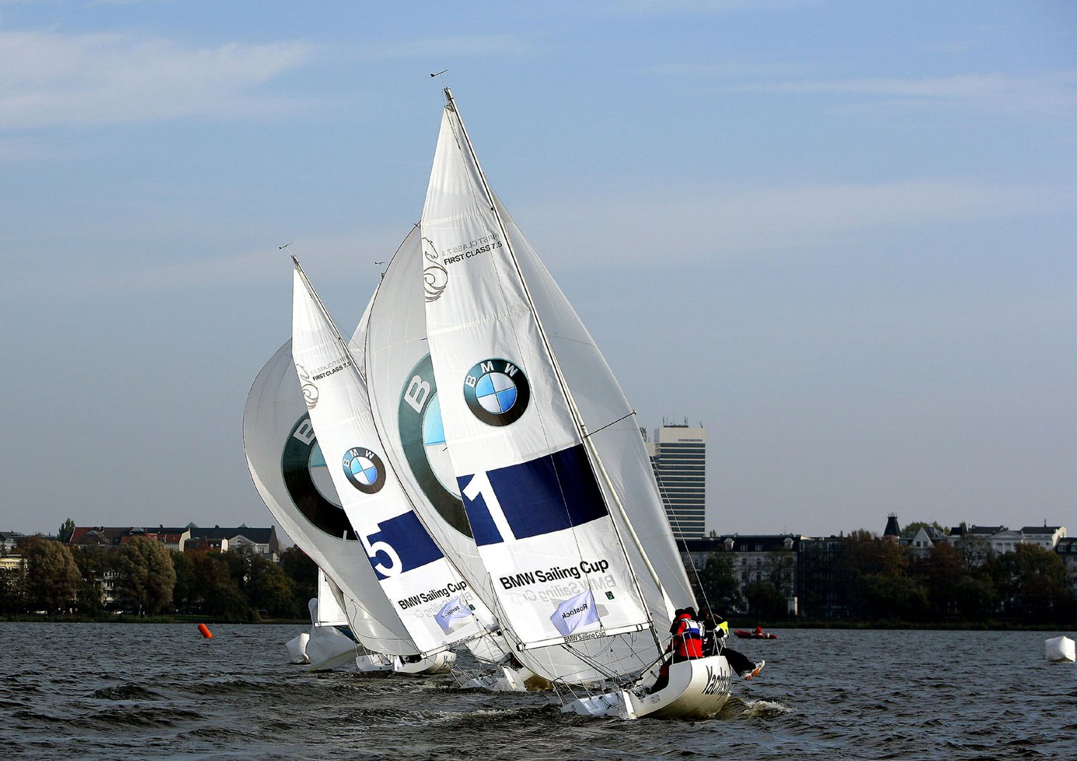 Aufnahme vom Sailing Cup 2007 in Hamburg