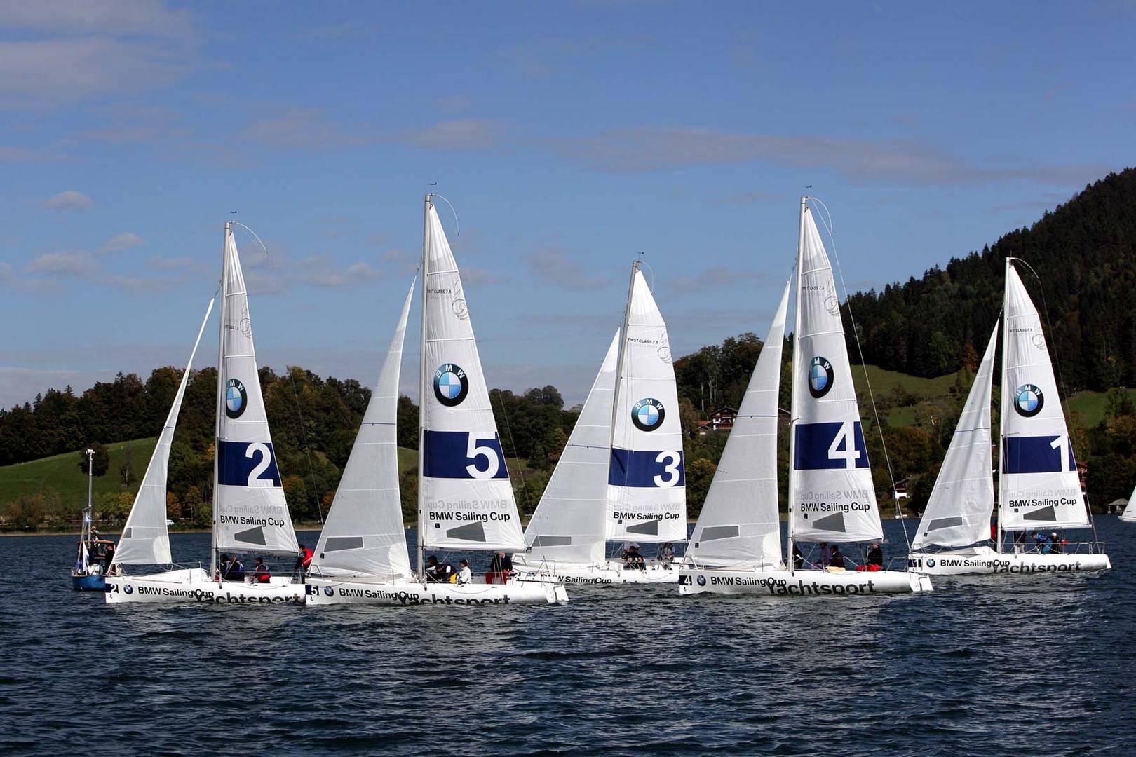Aufnahme vom Sailing Cup Tegernsee, 2007