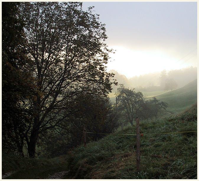 Aufreissender Nebel