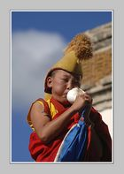 Aufruf zum Gebet - Novize in der Mongolei