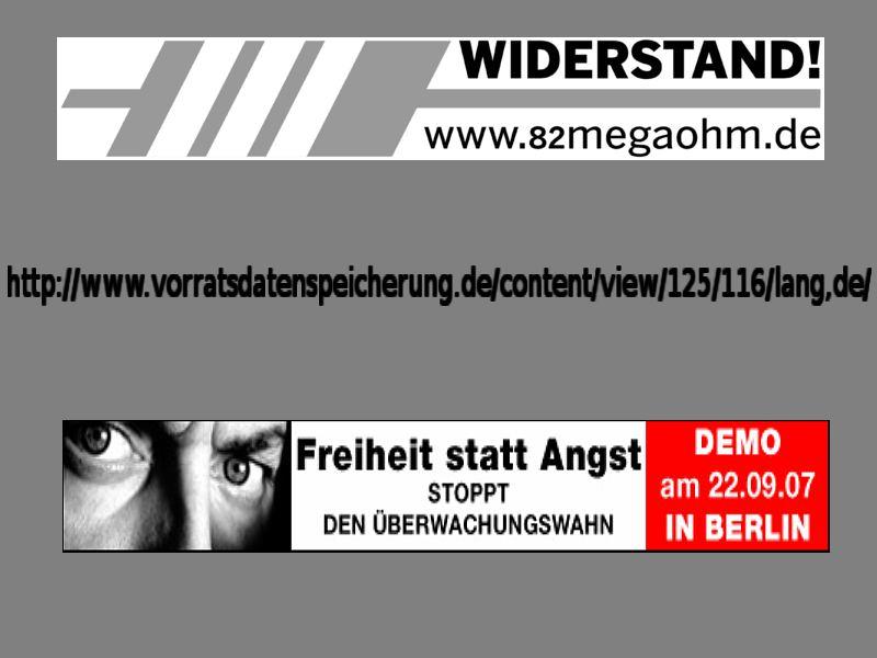 """Aufruf zur Demo """"Freiheit statt Angst"""""""