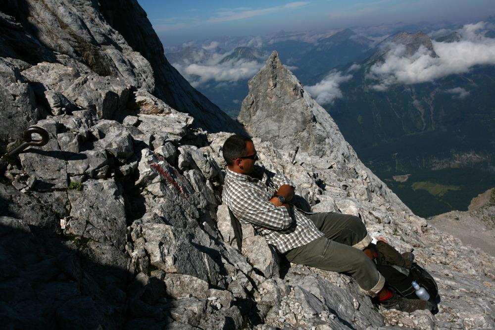Aufstieg auf der Zugspitze