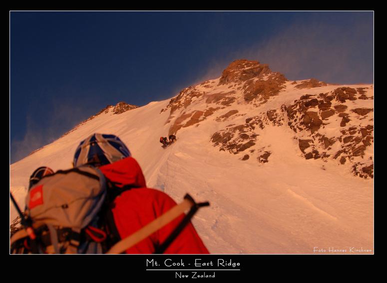 Aufstieg über die East Ridge zum Südgipfel des Mt. Cook