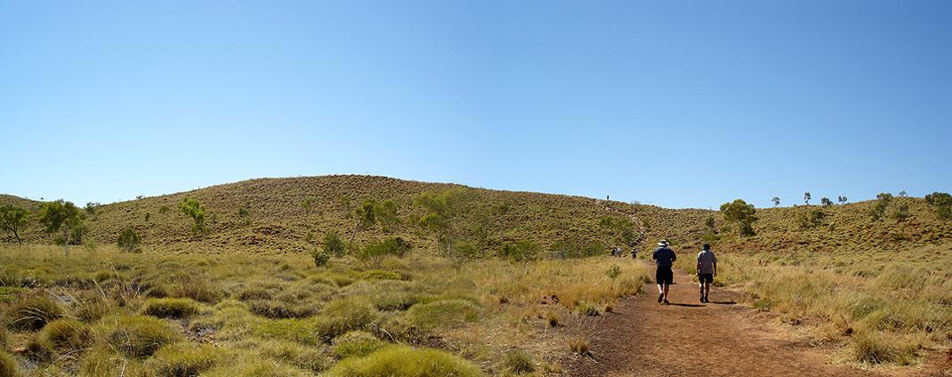 Aufstieg zum Kraterrand