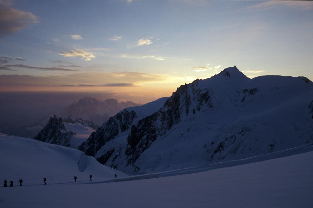 Aufstieg zum Mont Blanc