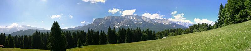 Aufstieg zur Elmauer Alm bei Mittenwald