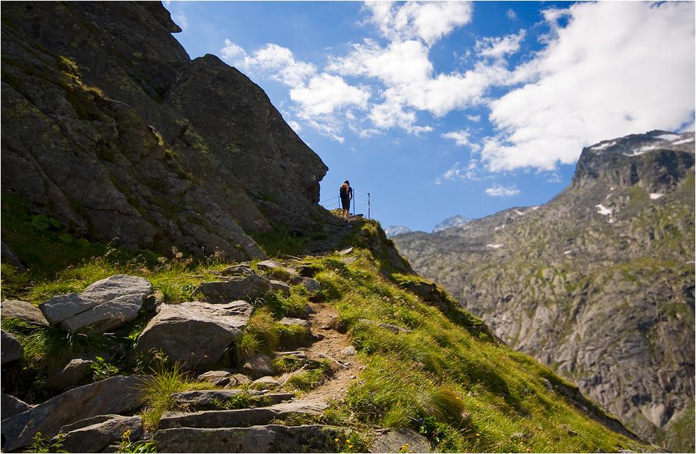 Aufstieg zur Kürsinger Hütte (2558 m)
