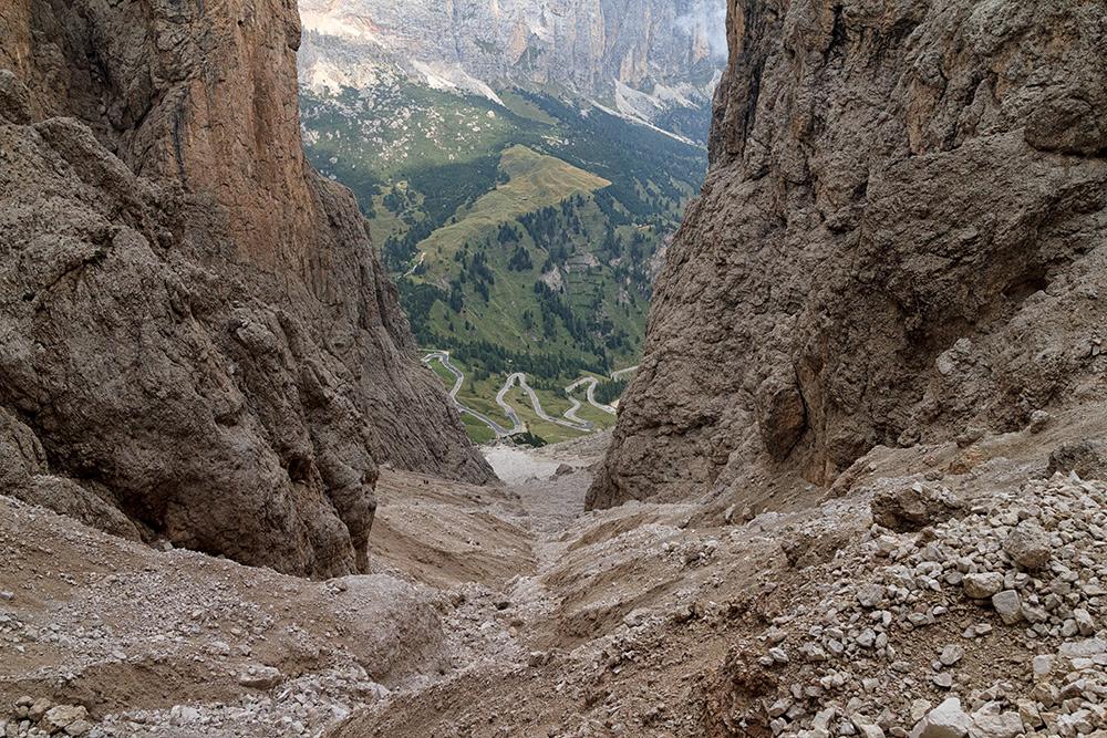Aufstieg zur Pisciadu Hütte