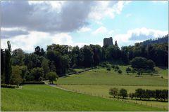 ... Aufstieg zur Ruine Pfeffingen ...