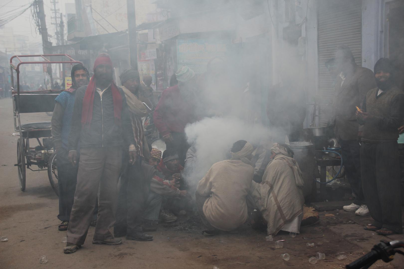 Aufwärmen in Indien.....