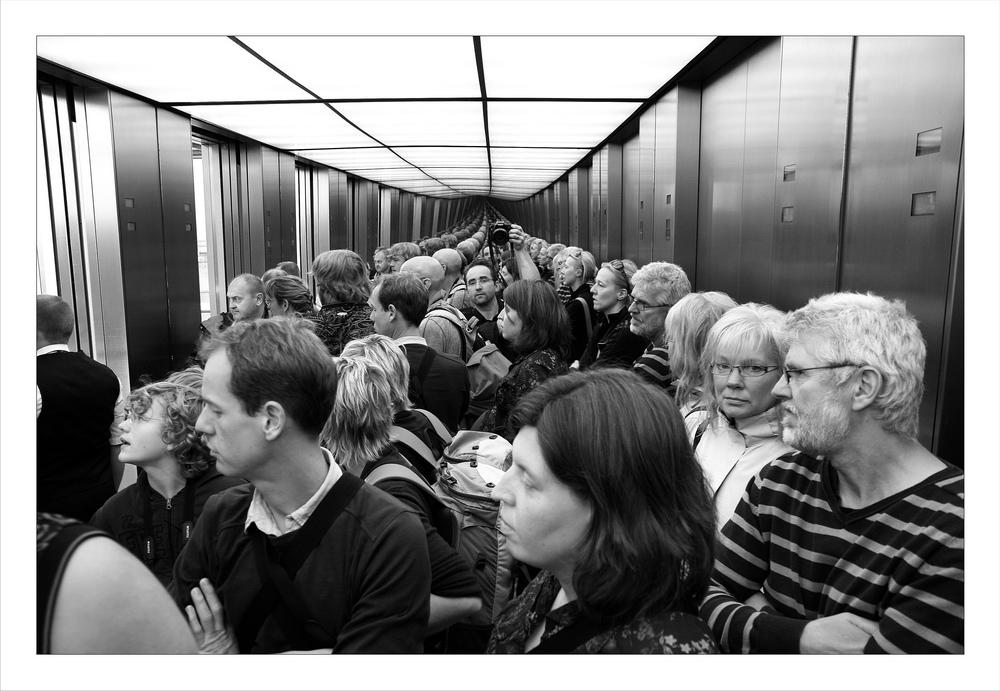 Aufzug im Berliner Reichstag