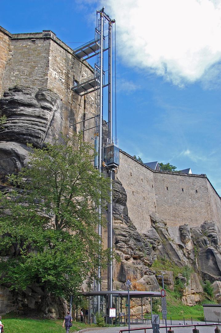 Aufzug zur Festung Königstein